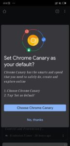 How to make Canary a default browser
