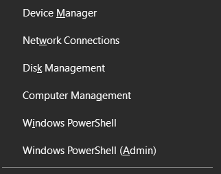 Network connections option